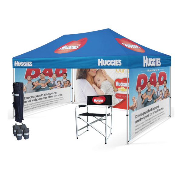 Commercial pop up tent