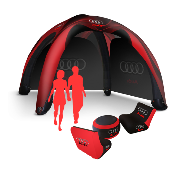 Personalized inflatable tent