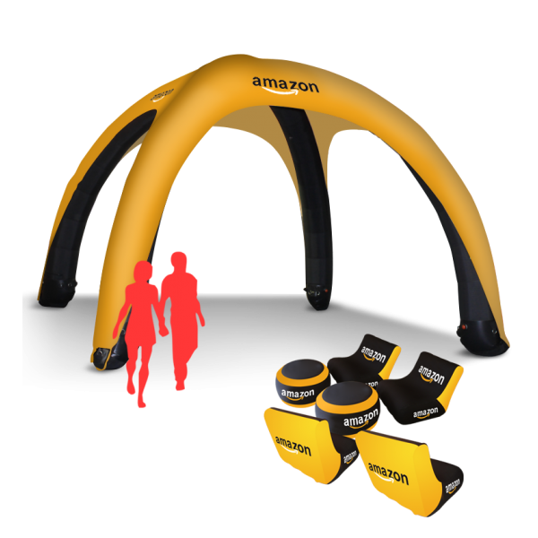 Stand up inflatable tent