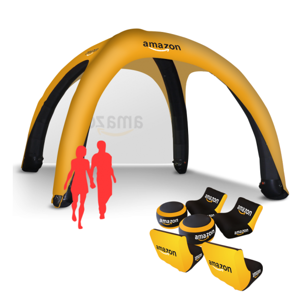 Compact pop up inflatable tent