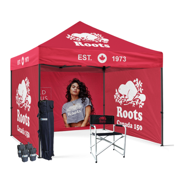 Promotional pop up tent