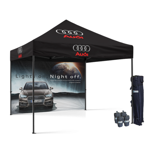 Tailgate pop up tent