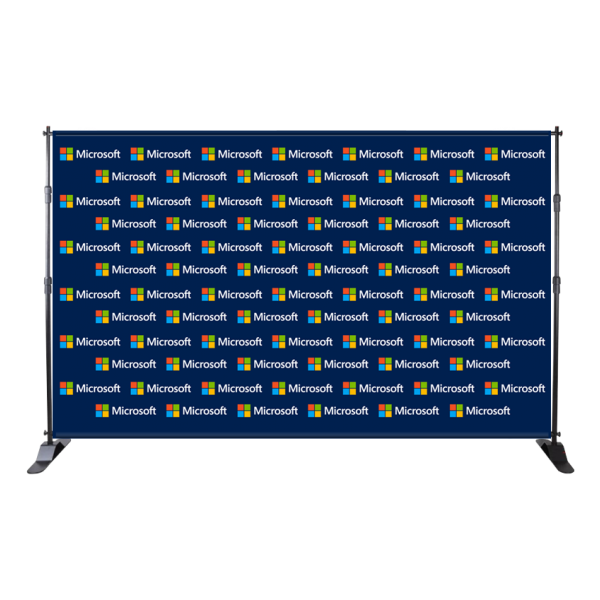 12ft Fabric Step & Repeat Adjustable Backdrop