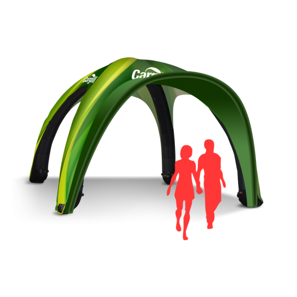 Easy up inflatable tent