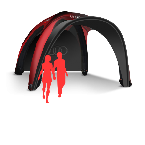 Portable inflatable tent