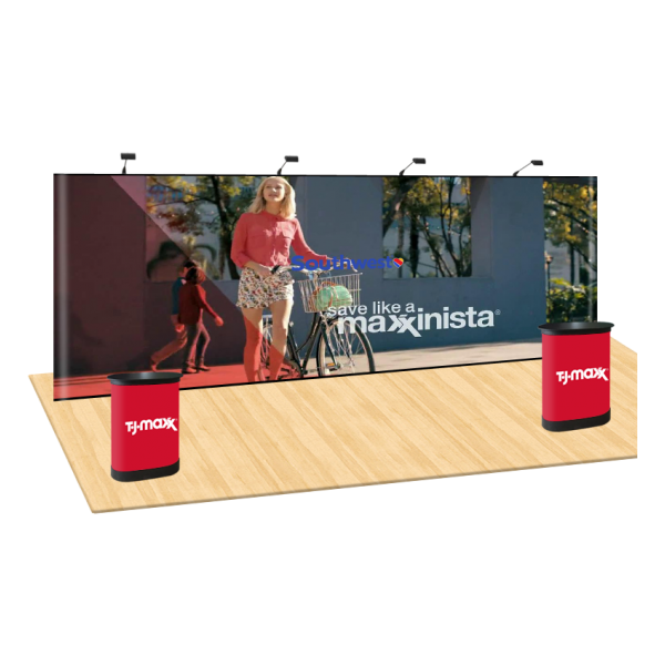 20ft Straight Pop Up Display